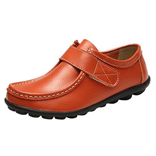 YU'TING - Scarpe Mocassini Donna, Donna - Mocassini Donna di Pelle Liscia comode Loafers Scarpe Casual Confortevole Slip On Loafers Cuoio Scarpe da Barca