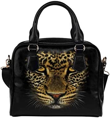 African Wild Leopard PU Leather Purse Handbags Shoulder Crossbody Bag for Women Girls product image