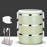 ステンレス鋼絶縁弁当,漏れ スプーン付き積み重ね可能なお弁当箱,大人と子供のためのフォークランチコンテナ-k 20x15cm(8x6inch)