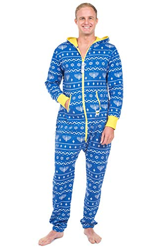 Blue Hanukkah Jumpsuit by Tipsy Elves: Large