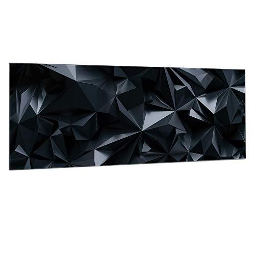 Navaris Pizarra magnética de cristal - Tablero imantado para colgar notas - Panel magnético de pared con imanes y diseño geométrico - 80 x 30 CM