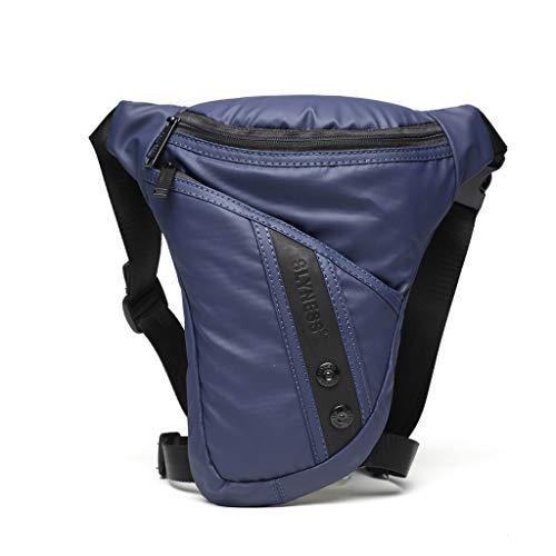 Huyiko Sahe de pierna, de moto, multifunción, para hombre, cinturón militar, portátil, bolsillo de viaje deportivo