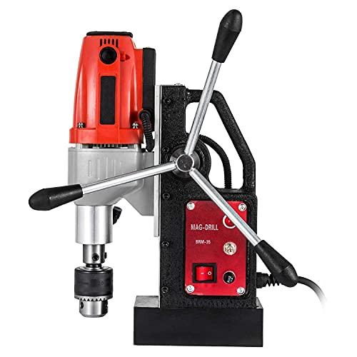 KAUTO Industrial Steel Magnetic Drill - -1/2'(40mm) Manual Bench Drill Press Stand 1100W Rotary Pillar Press Drill