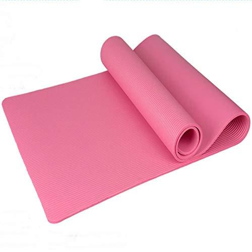WXL Estera De Yoga 15mm Sin Antideslizante Yoga Mats NBR for el Fitness Gym Equipment Yoga Pilates Ejercicio de los Deportes Sport Yoga Mat Colchoneta De Ejercicio (Color : Pink)