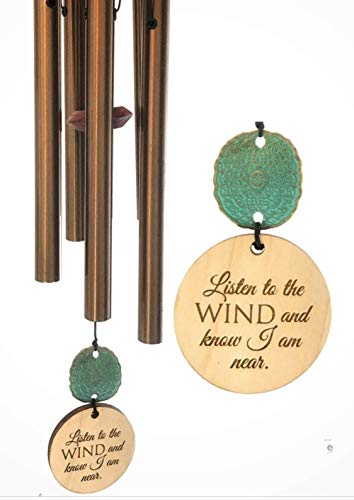 Ships Directly TODAY Best Seller Memorial Gift Sympathy Wind Chime Rush Shipping for Funeral Loss in Memory of Loved One Copper Listen to the Wind Memorial Garden