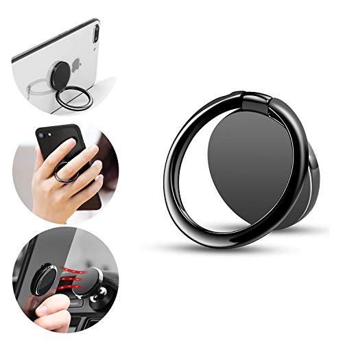 Phone Finger Ring Holder, ICEYA Finger Ring Holder 360°Rotation and 180°Flip Magnetic Phone Ring Compatible Most of Smartphones