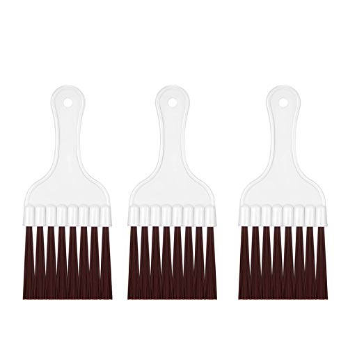 Hiyoo 3 Pieces Air Conditioner Condenser Fin Cleaning Brush, Refrigerator Coil Cleaning Whisk Brush Coil Cleaning Fin Evaporator Radiator Repair Tool (3 Pieces Brush)