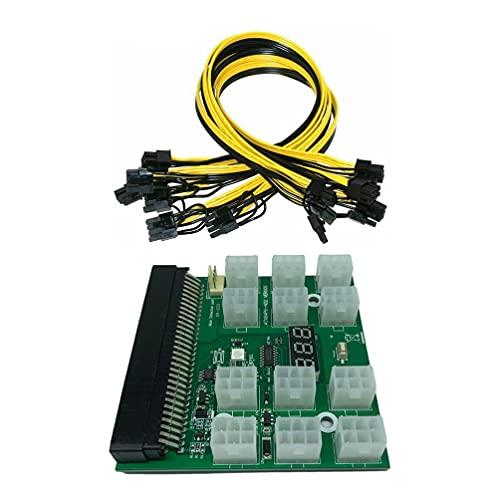 Generic 1 Set Server NETZTEIL Power 6- Pin zu 8- Pin Adapter GPU Bergbau Bord