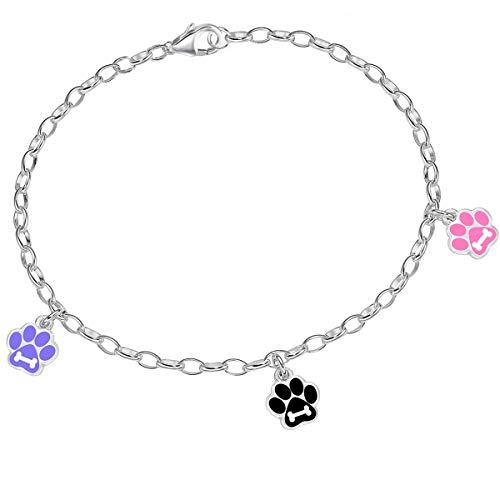 Kinderen meisjes 14-18 cm armband met 3 hangers 925 echt sterling zilver dames charm