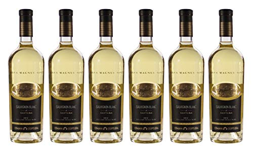 """Crama Ceptura   CERVUS MAGNUS MONTE Sauvignon Blanc – Weißwein trocken aus Rumänien   Weinpaket 6 x 0.75 L DOC-CMD + 1 Kugelschreiber """"Amigo Spirits"""" gratis"""