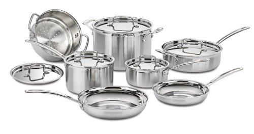 Cuisinart Multiclad Pro Triple Ply Stainless Steel 12-Pc. Set