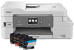 Up to 1 year of ink in box: Using the MFCJ995DW cartridges provided, get exceptional savings and uninterrupted printing for up to 1 year(1) Inkvestment tank system: Reengineered ink cartridges hold more ink and work with an internal ink storage tank ...