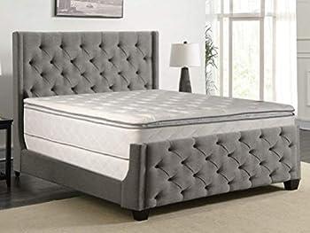 Greaton Medium Plush Pillowtop Innerspring Mattress And 8  Wood Box Spring/Foundation Set California King