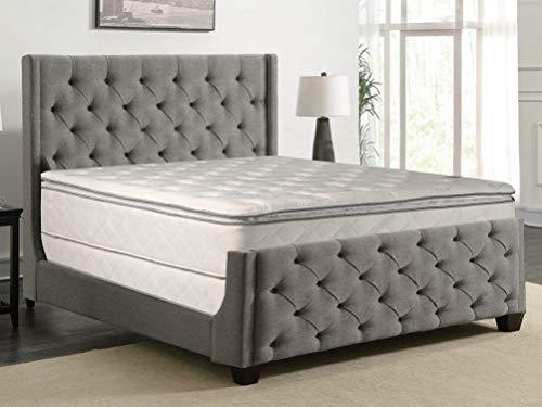 "Greaton Medium Plush Pillowtop Innerspring Mattress And 8"" Wood Box Spring/Foundation Set, California King"