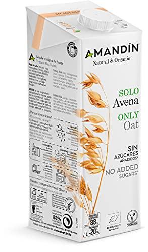 AMANDIN Bebida de Avena Nature (Sin Aceite) 6 x 1L Ml, 6000 Mililitros