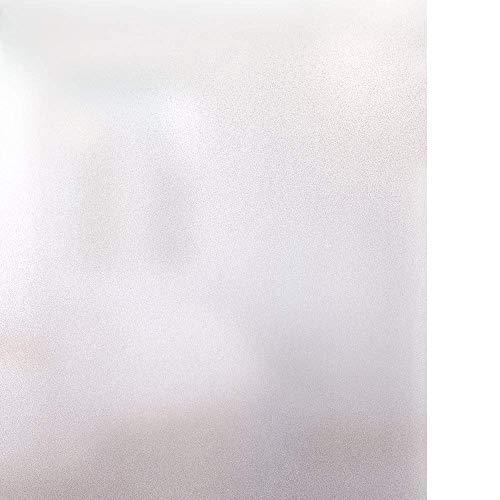 rabbitgoo Fensterfolie Selbstklebend Milchglasfolie Blickdicht Sichtschutzfolie Fenster Anti-UV Statische Folie Milchglas für Büro oder Zuhause Matt 44.5 x 300CM
