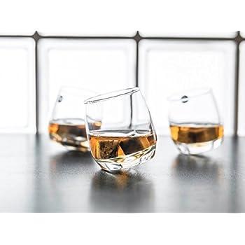 Gravidus 6 x Bar Rocking Whisky Glas - runder Boden 200 ml