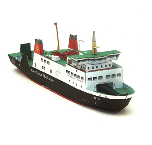 Los Kits Modelo De Papel, 1/250 Escala Polaco Bute Ferry