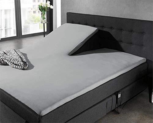 SleepTime HomeCare Jersey Split Topper, Jersey, Grau, 200 x 220