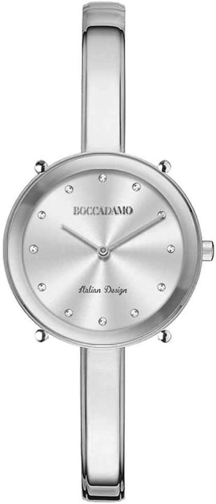 Boccadamo, orologio donna,in acciaio e cristalli swronski LO001