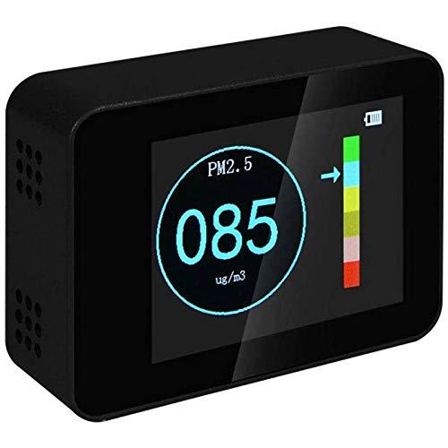 Air Quality Detector Laser Pm2,5 Pm10 Pm1,0 Detektoren Air QualitäT Monitor Co2 Sensor Alkoholtester Gas Detektor schwarz