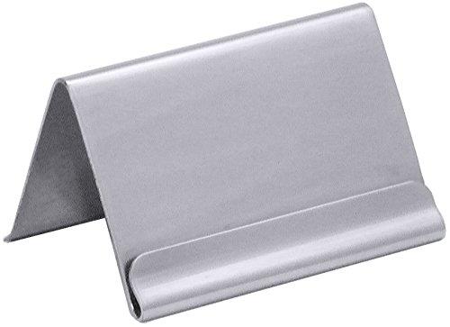 Kartenhalter aus Edelstahl 18/0, mit Falz für Kärtchen / A1 - für Karten bis zu 5,9 x 3,5 cm, A2 - für Karten bis zu 6,2 x 5,0 cm | ERK (A1 - 5,9 x 2,5 cm)