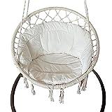 Cojín para silla de hamaca – Cesta colgante para silla de huevo, cojín redondo de asiento grueso nido almohada para patio jardín columpio silla cojines de asiento