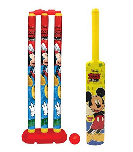 Bless Amazing Kids Cricket Kit Set with Bat Balls Wickets Bells- Indoor Beach Outdoor Garden Play Set for 2-6 Yrs Kids