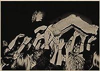 【 HIPHOP アイテム専門店 DzD】 額にも入る大きすぎない ビンテージ風 クラフトポスター 伝説のバンド Nirvana カートコバーン [サイズA3 420mm×297mm]