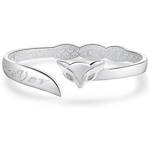 Wristchie sterling zilver bij fox verstelbare armband armband design met lieve je eeuwig stempel