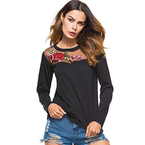 NANA318 Dames hemd met lange mouwen geruit hemd geruit hemd hemdjurk blouse-jurk oversize cardigan top shirtjurk Karo jurk ronde hals katoenmix zwart