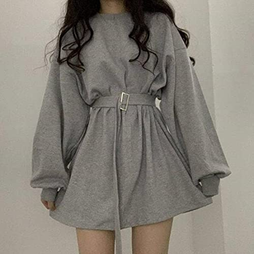 liuliu Vestido gótico gótico Mujer Streetwear KPOP Moda Estilo Coreano gótico Harajuku Vestido Negro de Manga Larga Mini Abrigo Mall Goth