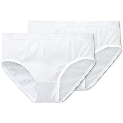 Schiesser Mädchen 95/5 Multi-Pack 2Pack Slips Unterhose, Weiß (Weiss 100), 128 (2er