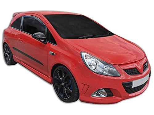 J&J AUTOMOTIVE   Deflecteurs d'air déflecteurs de Vent Compatible avec Opel Corsa D/E, 3-Porte 2006-2019 2pcs