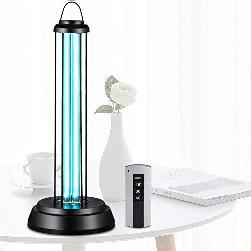 Zerone - Luz Ultravioleta de cuarzo, lámpara germicida de rayos ultravioleta, 38 W, 80 ㎡ Esterilizadora del ozono UV para salón, dormitorio, restaurante, escuela, universidad, oficina