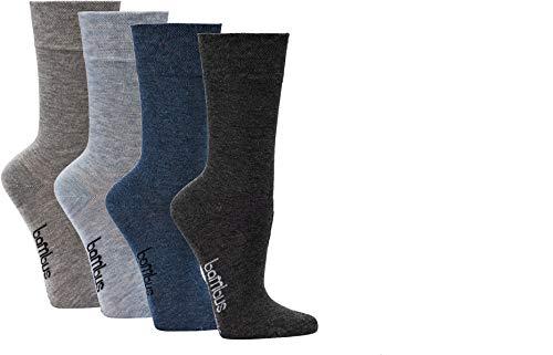 socksPur DAMEN und HERREN Wellness-Socken BAMBUS Normal-lang, melange 3-er PACK (Gr. 39-42, 2270: Farblich vorsortiert in MELANGE)