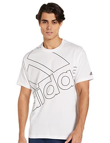 adidas GK9424 U FAVS Q1 T T-Shirt Unisex-Adult White/Black S