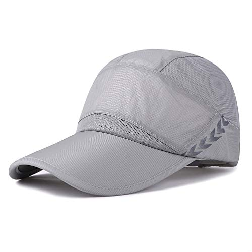 GADIEMENSS Quick Drying Breathable Running Outdoor Hat Cap Only 2 Ounces (Gray)