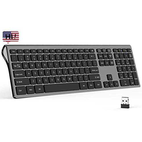 2.4G USB Wireless Keyboard, Seenda Wireless Ergonomic Keyboard...