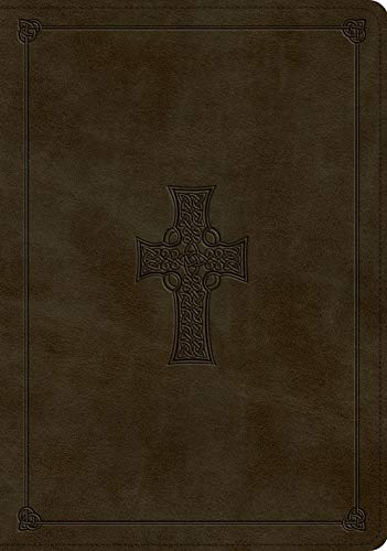 ESV Study Bible (TruTone, Olive, Celtic Cross Design, Indexed)