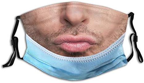 Funny Man Beard Smile Face Mask Comfortable Balaclavas Reusable Bandana Adjustable Scarf For product image