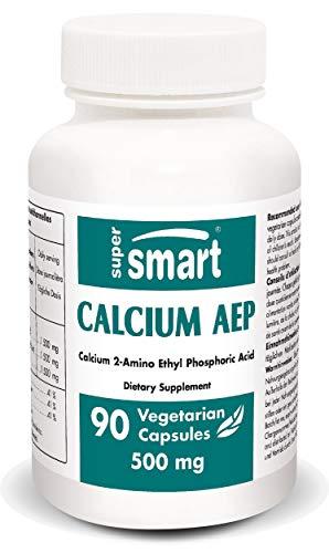 Supersmart MrSmart - Complemento mineral - Calcium AEP (2 amino etanol fosfato de calcio)- Factor de integridad de las membranas celulares. 500 mg, 90 cápsulas