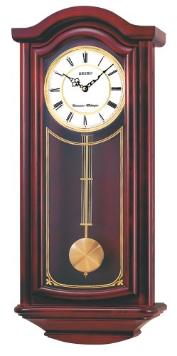Seiko Wall Pendulum Clock Mahogany Finish Solid Wood Case