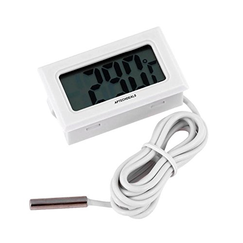 AptechDeals Mini LCD digital thermometer sensor wired for Room temperaure/fridges, Indoor Outdoor Portable Pocket LCD Electronic Temperature Meter Tester Instant Read Thermocouple