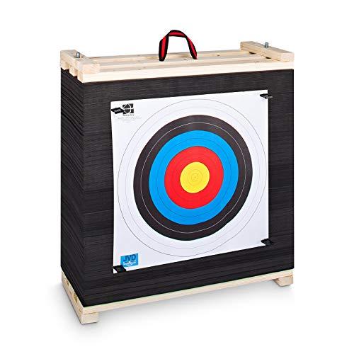 YAK Archery Target Zielscheibe für Bogenschießen für alle Bogenarten mit wechselbaren Lamellen 60x60x20cm