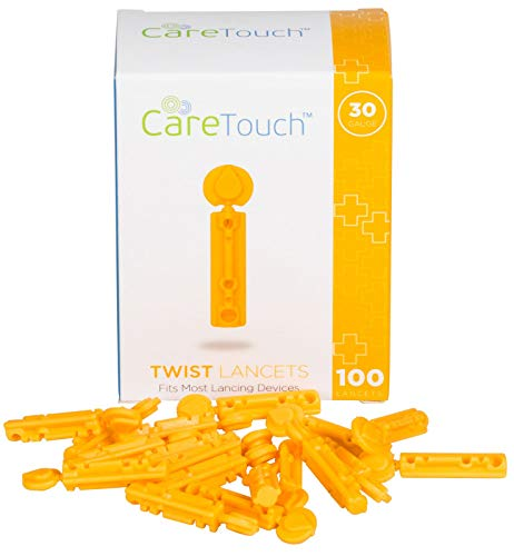 Care Touch CTLAN10030 Twist Top Lancets 30 Gauge, 100 Lancets, Shape, (Pack of 100)