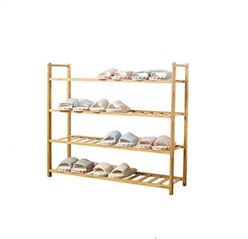 Household Doorway Houten schoenenrek schoenenrek opbergrek bamboe Solid Wood rek spaarplank 82.5cm*25cm*71.5cm