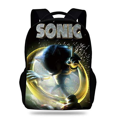 Sonic The Hedgehog 3D Waterproof Laptop Travel Outdoor Backpack with USB Charging Portfor Men College Backpack Travel,1