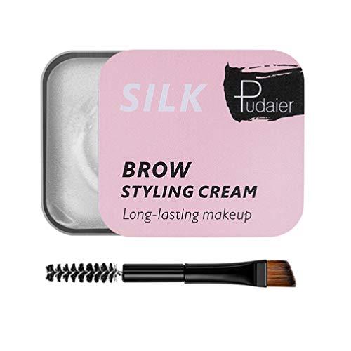 Beaupretty Kit de Jabón para Cejas Crema para Cejas Gel para Cejas 3D con Herramienta de Maquillaje con Cepillo de Cejas para Mujeres Niñas Damas