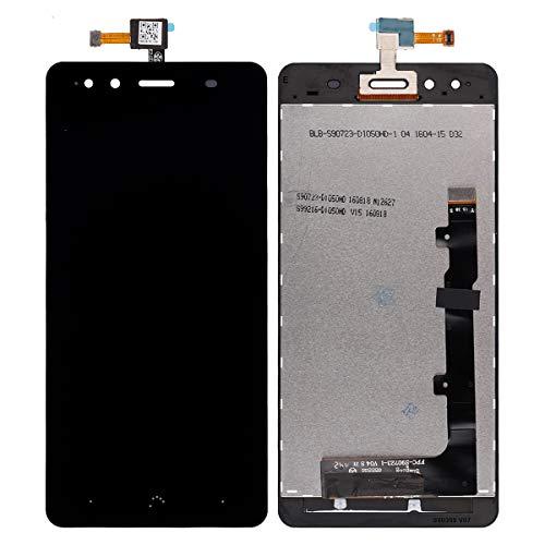 Pantalla LCD compatible con BQ Aquaris X5 Negro (sin marco), pantalla táctil, digitalizador, cristal de montaje + herramientas
